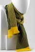 Gold/green reversible stripe