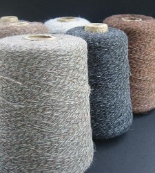 Alpaca twist yarn
