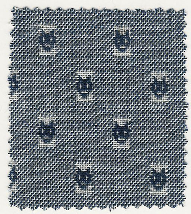 Woven navy cats