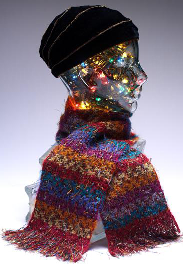 Scarf with Christmas lights