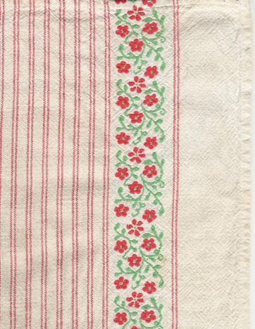 Ticking dishtowel