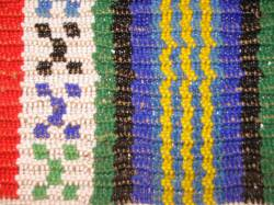 Zulu beaded stripes
