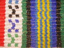 Zulu beaded stripes