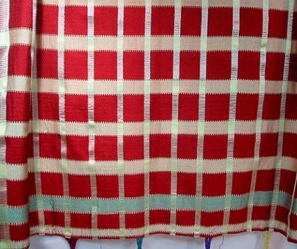 Moroccan silk plaid