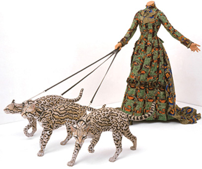 """Leisure Lady (with Ocelots)"" by Yinka Shonibare, 2001"
