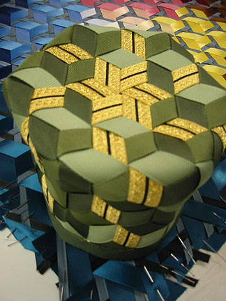 3-D ribbon weaving by Sally Shore